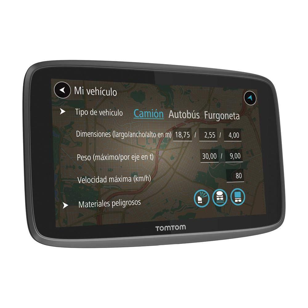 TomTom GO Professional 6200 - Navegador Profesional para Vehículos Grandes, 1 Año de Tomtom Traffic con Tarjeta SIM, 6