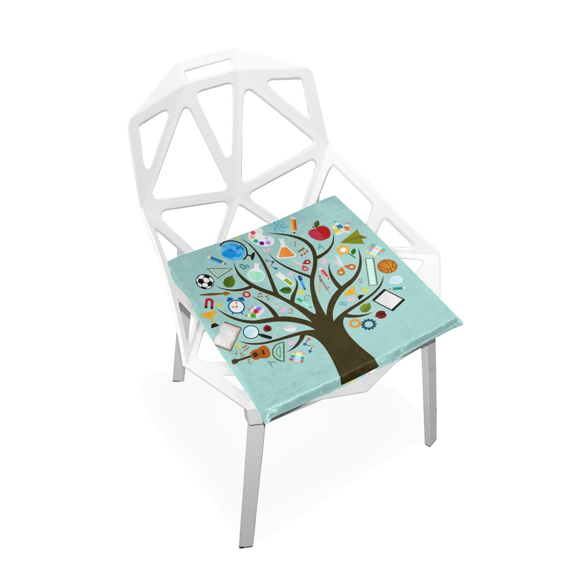 DOENR Tool Tree Seat Cushion Chair Cushions Covers Set Decorative Indoor Outdoor Velvet Double Printing Design Soft Seat Cushion 16 x 16