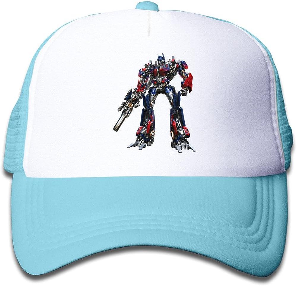 Funny Optimus Prime Transformer Kids Baseball Mesh Caps Hat Boys Girls Adjustable Cotton