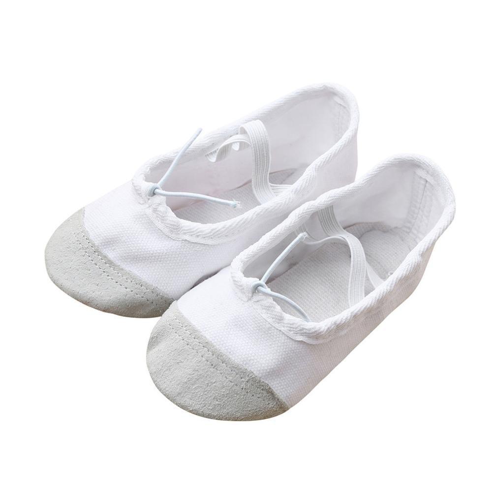 Toile Ballet Fitness, Pointe QinMM Danse Blanc Chaussures Fitness, QinMM Lacet Gymnastique Pantoufles pour Enfants Blanc 5158304 - epictionpvp.space