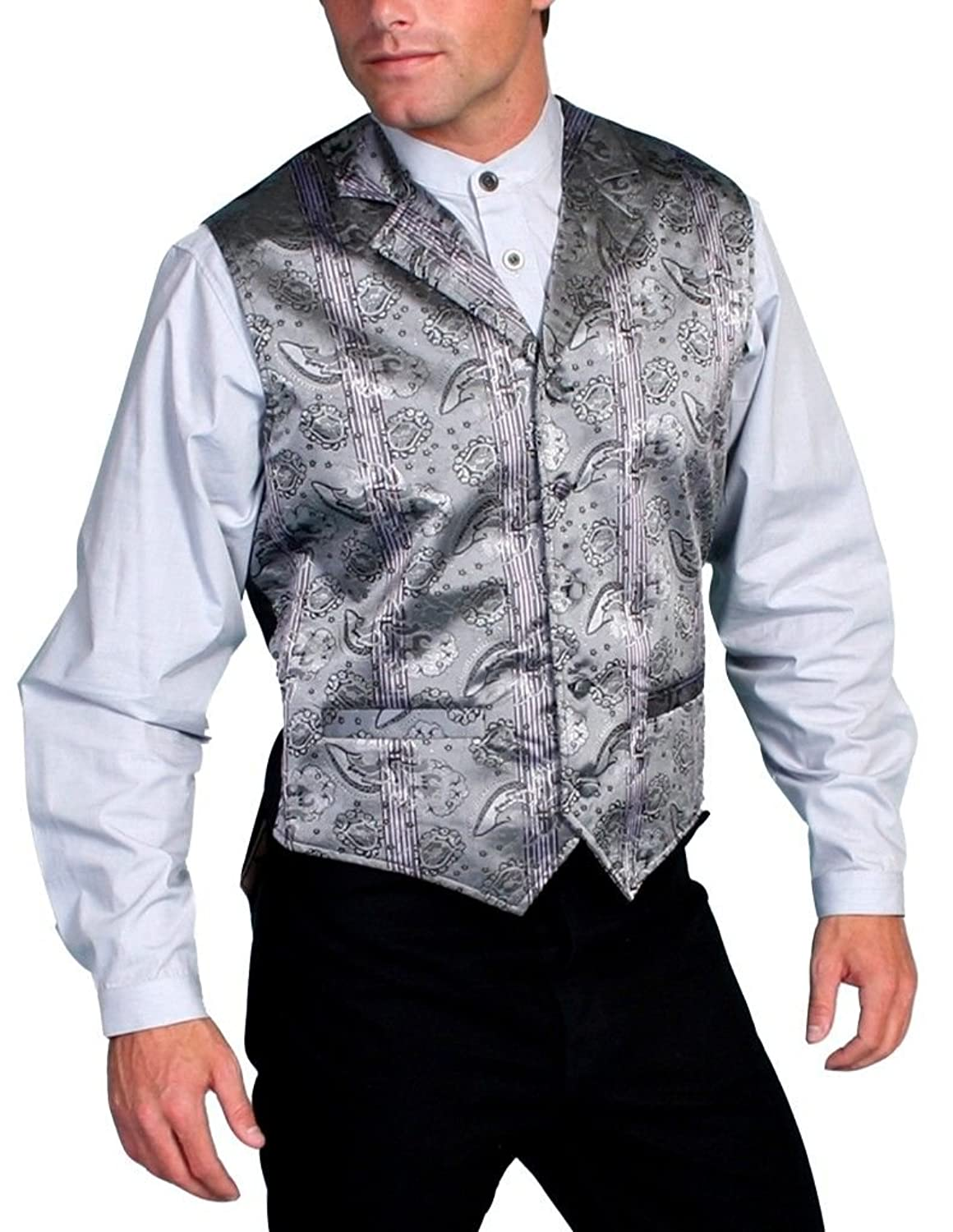Men's Vintage Inspired Vests  Rangewear Claymont Vest Big And Tall - Rw114x Gry $55.05 AT vintagedancer.com