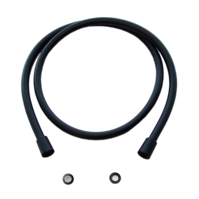 disponible en trois longueurs diff/érentes Longueur:2.0 m Flexible de douche en noir mat BS02