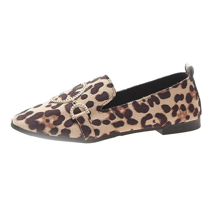 Mujer Mocasines de Cuero Moda Loafers,ZARLLE Suave Ocio Mocasines de Cuero Mujer Loafers Casual Zapatos de Conducción Cómodos Zapatillas del Barco: ...