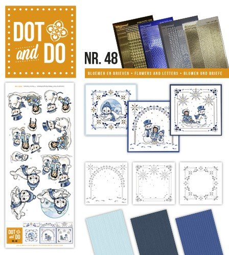 Dot and Do Playful Winter DODO048 Hobbydots Card (Decoupage Card)