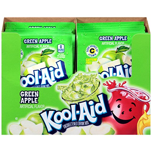 - Kool Aid Green Apple Drink Mix, Makes 2 Quarts (0.22 oz Packets, Pack of 192)