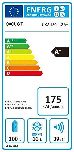 Exquisit UKS130-1 A+ Bajo encimera 117L A+ Blanco - Nevera combi ...
