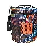 Toogoo Yarn Case Yarn Storage Knitting Yarn Bag Big Capacity Women Home Crochet Hooks Thread Yarn Storage Bag DIY Sewing Kit Bag color