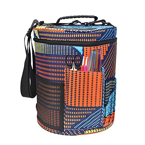 Toogoo Yarn Case Yarn Storage Knitting Yarn Bag Big Capacity Women Home Crochet Hooks Thread Yarn Storage Bag DIY Sewing Kit Bag color by Toogoo