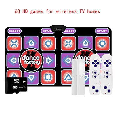 Dance mat Quality 2020dance Mat,Double Wireless PC-TV Dual-use Version for Kids and Adults Hyun Dance Yoga -2020 (Color : Lover Jump): Home & Kitchen