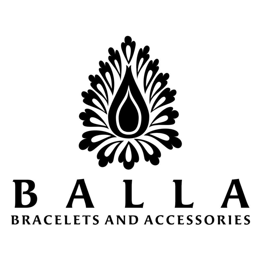 White Crystal Beads White Gold Plated Hematite Designer Adjustable Bracelet by Balla