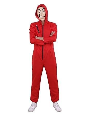 Iiniim Herren Damen Overall Jumpsuit Mit Maske Haus Des Geldes Anzug
