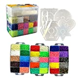 Little Visionary 30,000 Fuse Beads - Deluxe Hama Bead Kit Includes 10 Pegboards, Tweezers, Ironing Paper, Travel Case (30,000)