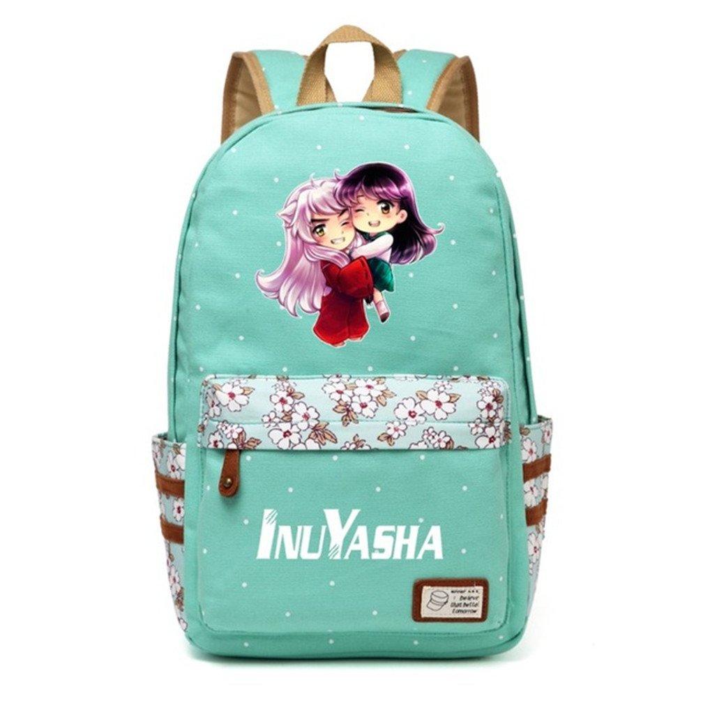 YOYOSHome Anime Inuyasha Cosplay Daypack Bookbag Backpack School Bag (Green 1)
