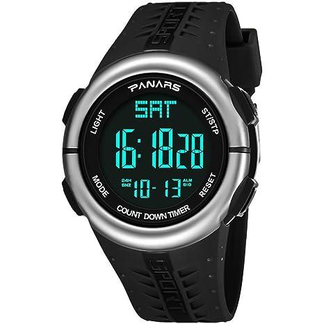 DSADDSD # Reloj Digital Impermeable para Hombre Reloj Digital Deportivo para Hombre Reloj cronómetro Luminoso Impermeable