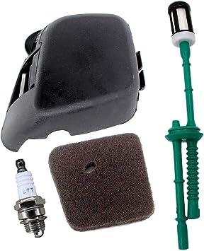 AISEN - Filtro de aire con tapa para desbrozadora Stihl FS38 FS45 ...