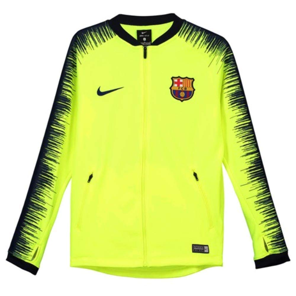 Nike 2018-2019 Barcelona Anthem Jacket (Volt) - Kids