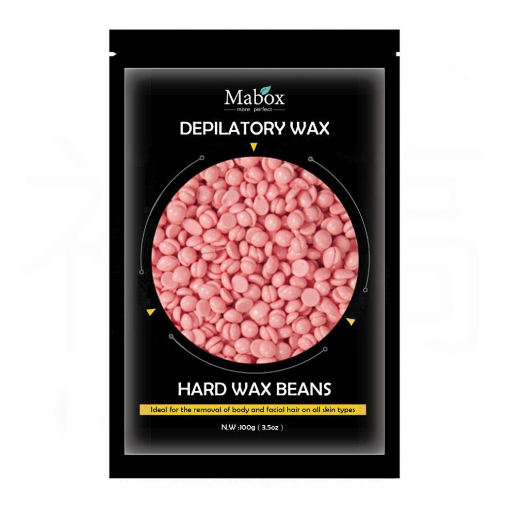 100g Summer Depilatory Hot Film Hard Wax Waxing Bikini Hair Removal Bean for women and men– For Legs, Underarms, Eyebrow, Upper Lip, Face & Body (Pink)