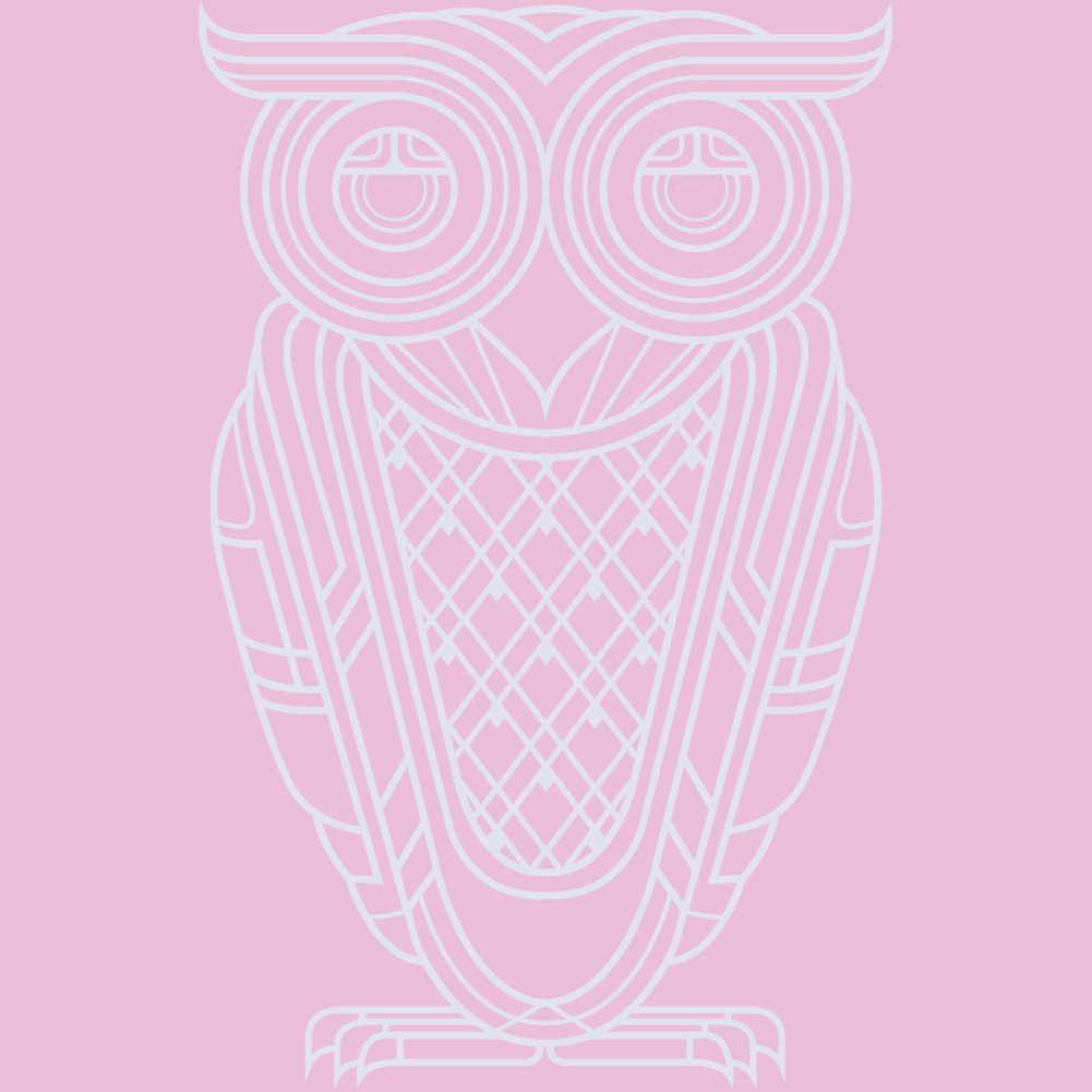 Nocturnal Girls Youth Graphic T Shirt Design By Humans Art Deco Owl