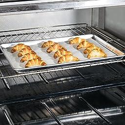 Set of 6 - TrueCraftware 18 Gauge Aluminium Commercial Baker\'s 2/3 Size Sheets / Baking Trays / Pan / 15 x 21\