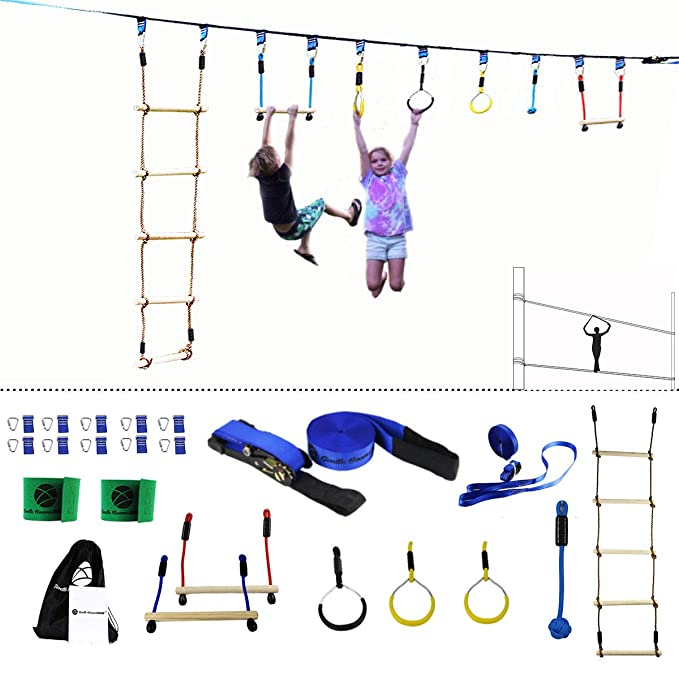 Amazon.com: Gentle Booms Sports Ninja Line Obstacle Course ...
