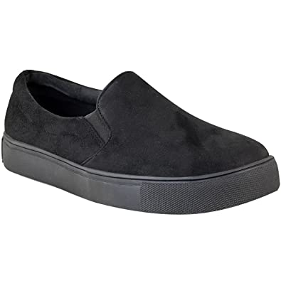 Fashion Thirsty Womens Platform School Shoes Casual Skater Trainers  Sneakers Shoes Size 5 b8871cbca