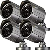 Q-SeeQM7008B-4 Premium 700TVL Bullet Camera Kit for Surveillance Cameras, 4-Pack