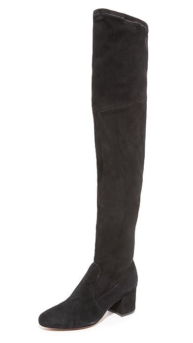 Amazon.com: Schutz Women's Tamarah Over the Knee Boots, Black, 6.5 ...