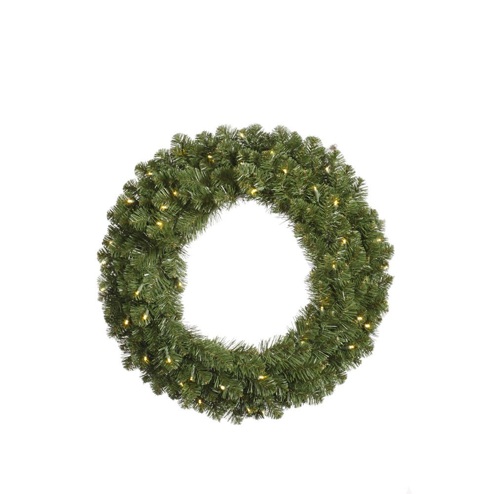 Vickerman Teton Double Sided Artificial Wreath with 200 Multi-Colored LED Lights, 36''