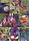 X-MEN 1995 FLEER ULTRA WALMART HUNTERS & STALKERS GOLD FOIL INSERT CHASE CARD SET 1 TO 9 MARVEL