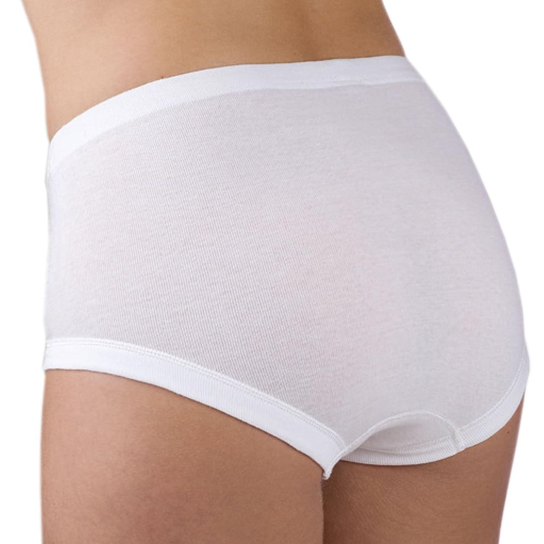 Ott-tricot Taillenslip Damen 2-er Pack Damenslip 100% gekämmte BW in Größe 38 - 60 in Weiß