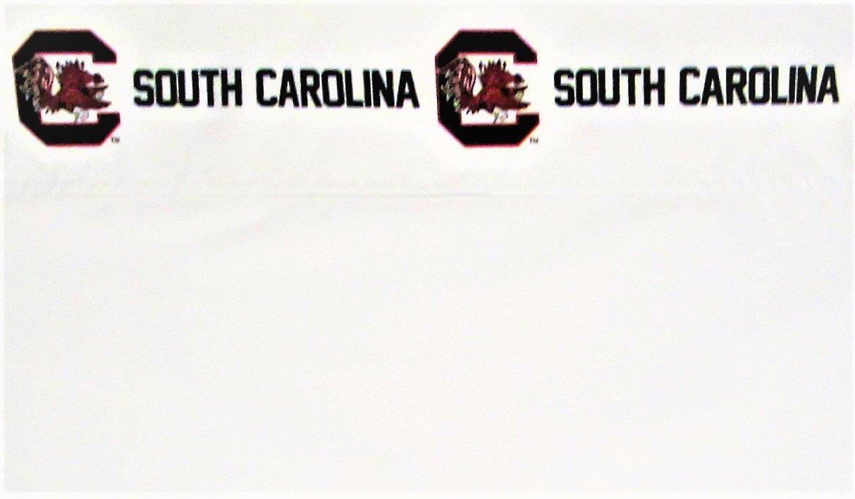 NCAA South Carolina Gamecocks College (Flat Top Sheet Only) Size Queen Bedding Decor