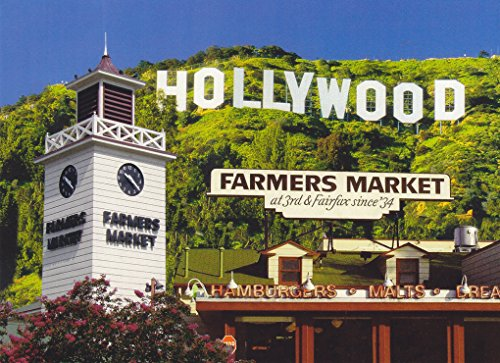 TRKLA015 038 HOLLYWOOD FARMERS MARKET / THE GROVE SHOPPING CENTER POSTCARD .... . from - Shopping Hollywood Center