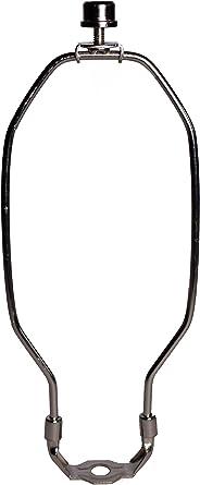 Silver DZS Elec 1-Pack 10inch Lamp Shade Harp Holder DIY Lighting Accessories Horn Frame Lampshade Bracket for Table//Floor Light Fitting