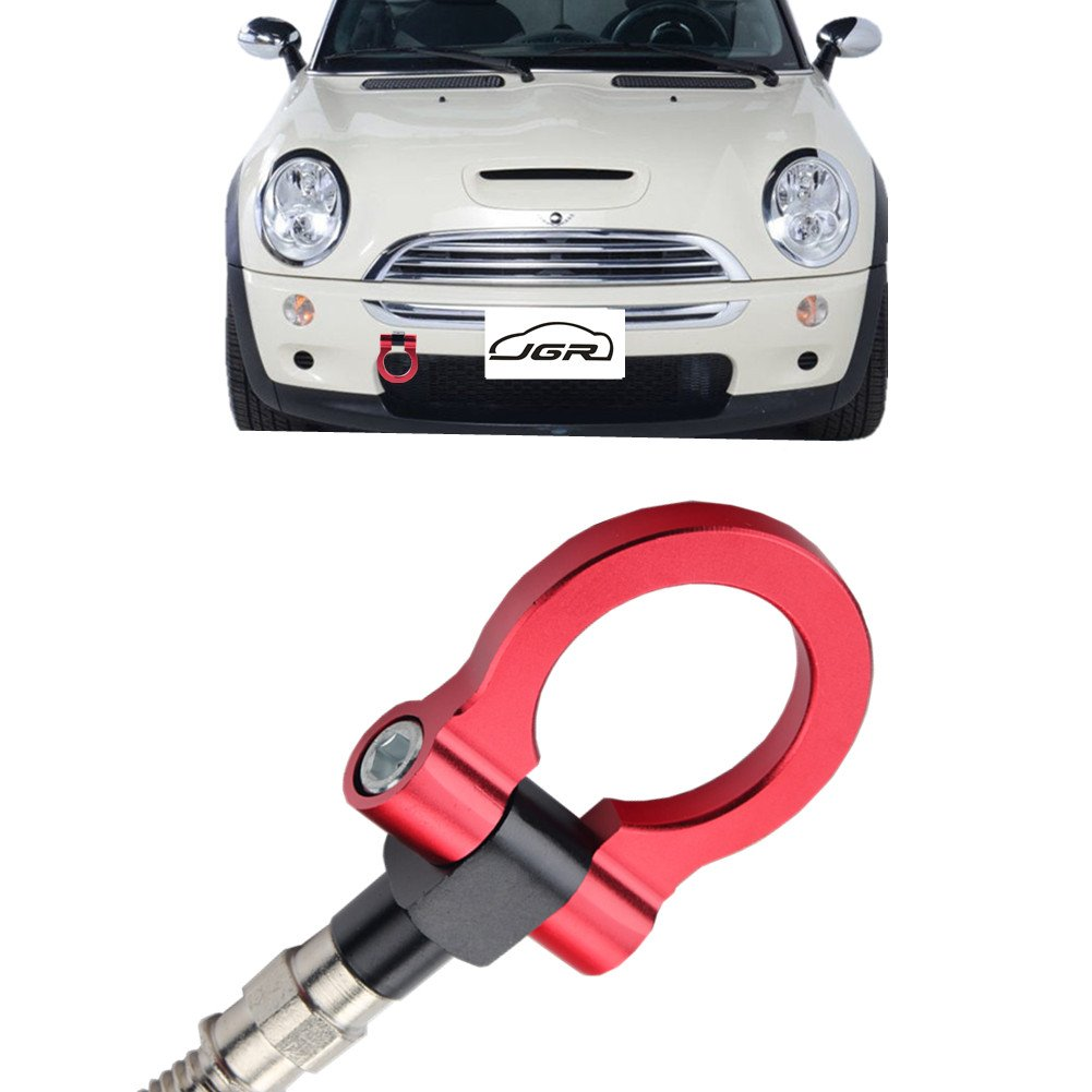 JGR Neo Chrome Front Bumper Tow Hook bolt on Aluminum Sport Racing Accessories Tow Eye Hook Hinge For Mini Cooper R50 R51 R52 R53 R55 R56 R57 R58 R59 1st Gen /& 2ed Gen