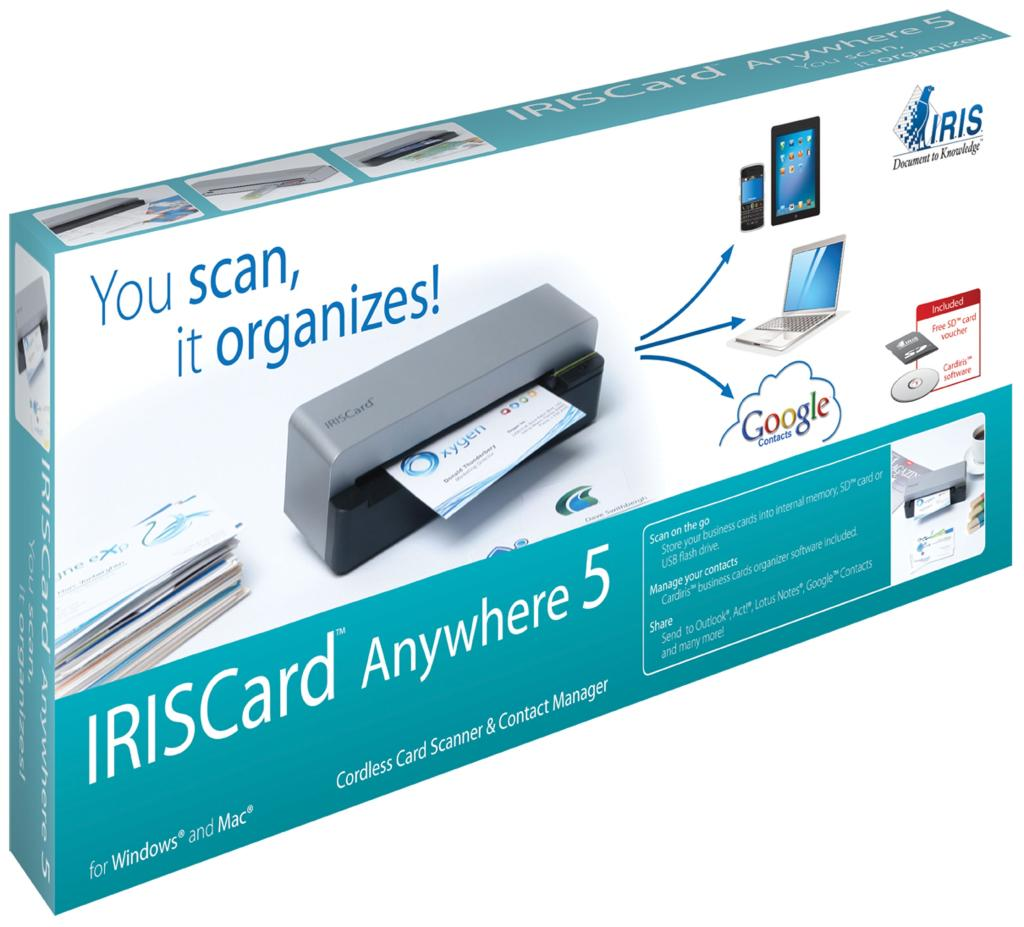 Amazon iriscard anywhere 5 portable business card recognition view larger reheart Images