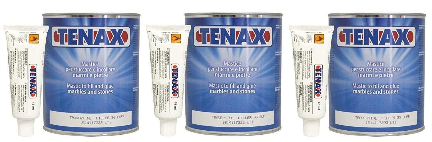 Tenax Travertine Filler - 1 liter (Pack of 3)