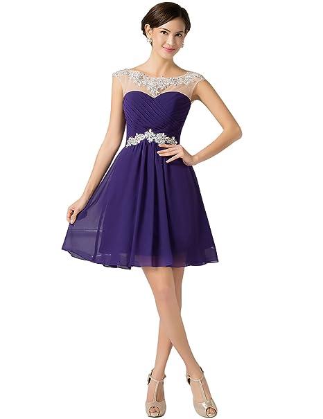 Yafex CL7536-1# USA 2 - Vestido para mujer, color morado, talla