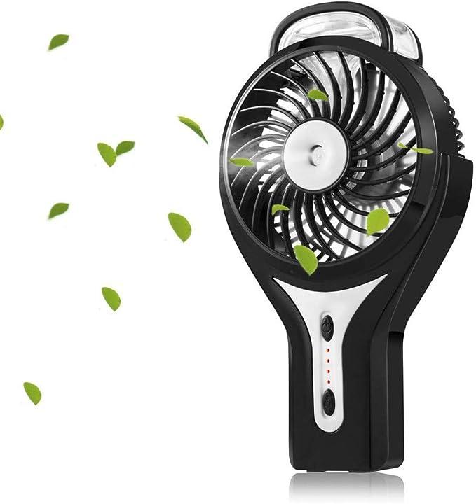 CAOQAO Mini 2200 mA Spray Atomización Silencioso Ventilador de ...