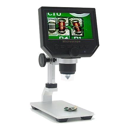 OUKANING Pantalla de 4,3 Pulgadas 1080P Microscopio Digital para Circuito Junta Reparación Soldador Herramienta