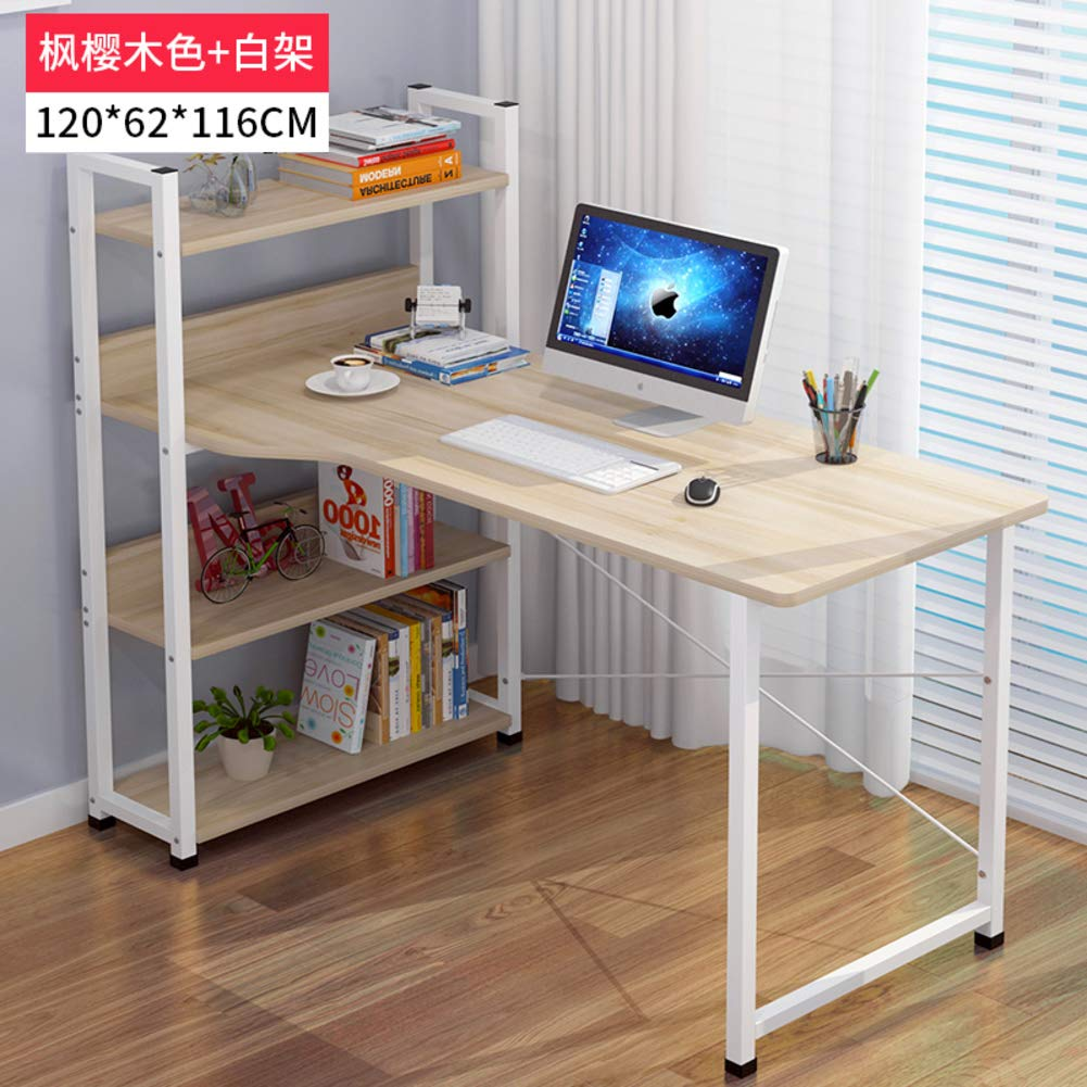 K 120x62x116cm(47x24x46inch) Tower Computer Desk,Computer Table with Storage,Compact Home Office Studying Writing Table Multipurpose Workstation-b 103x40x105cm(41x16x41inch)