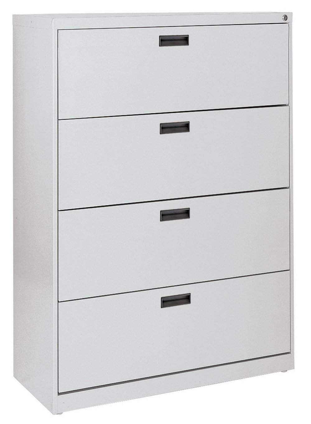 Sandusky 400 Series Dove Gray Steel Lateral File Cabinet with Plastic Handle, 30'' Width x 53-1/4'' Height x 18'' Depth, 4 Drawers by Sandusky