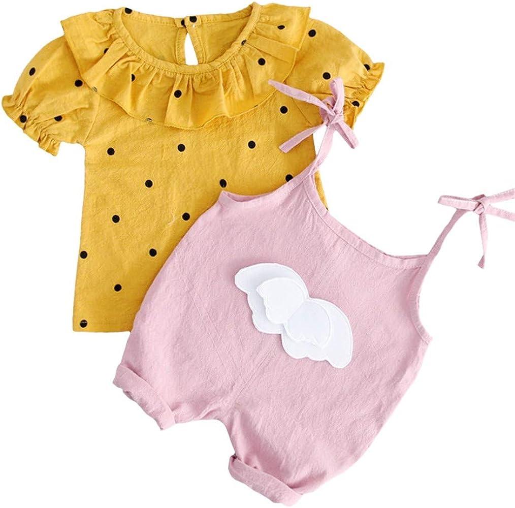Mitlfuny Bebé Niñas Conjunto de Ropa Camisetas de Manga Corta ...