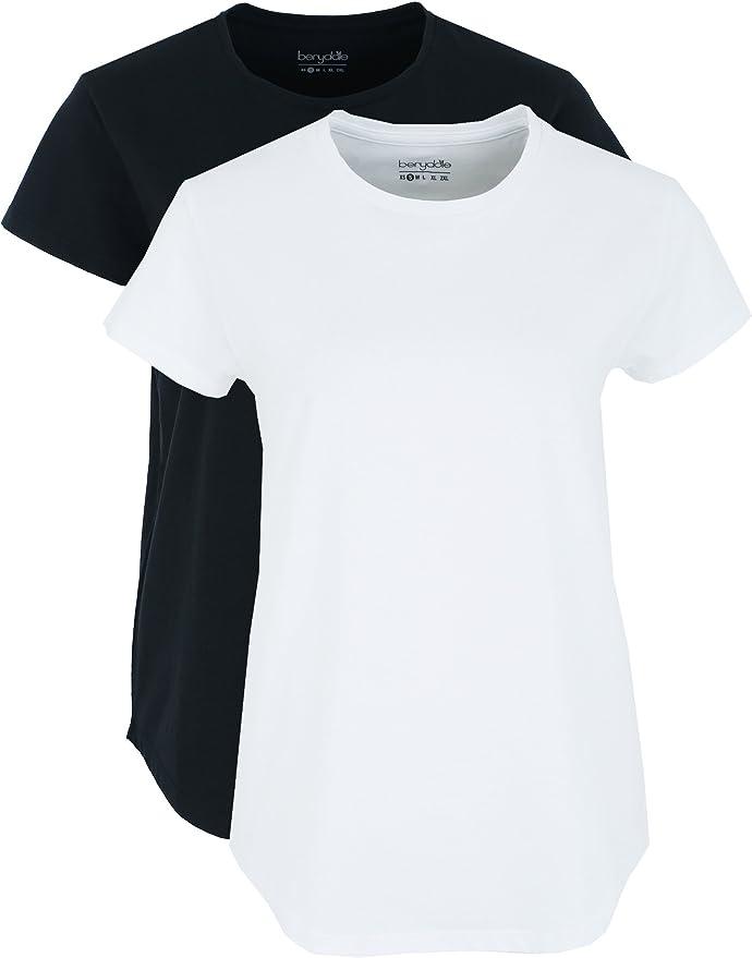 Berydale Bd324 Camiseta, Multicolor Schwarz/weiß), Medium, Pack de ...
