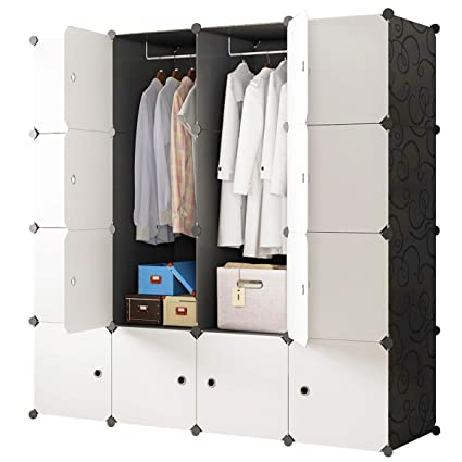 Amazon.com: KOUSI Portable Closet Wardrobe Closets Clothes Wardrobe ...