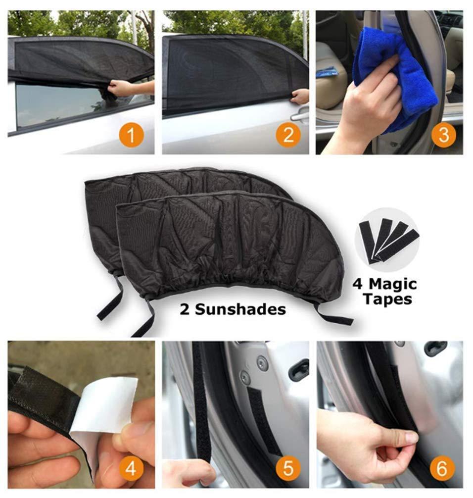Auto Sonnenschutz f/ür Baby 2 St/ück Reduziert W/ärme und UV-Strahlung einfache Installation kuyang Doppelseitiges UV Schutz Autofenster Sonnenschutz