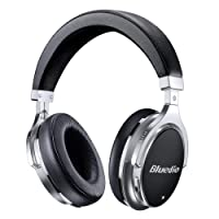 Bluedio F2 (Faith) Active Noise Cancelling Over-Ear Bluetooth Headphones Wired and Wireless Headset with Mic, for Cell Phone/TV/PC/Travel Children's Day Gift (Black)