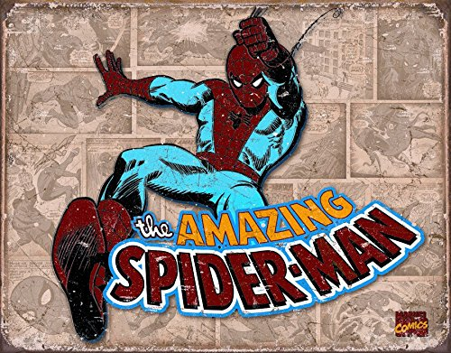 Spiderman Panels Tin Sign 16 x 13in