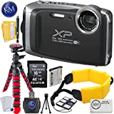 Fujifilm FinePix XP130 Digital Camera (Dark Silver) w/16GB Memory card + Photo Accessory Bundle