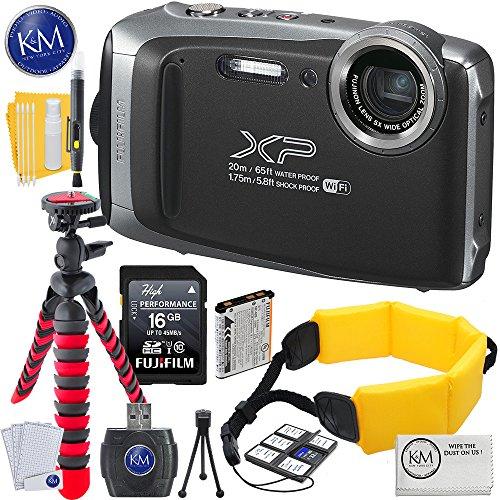 Fujifilm FinePix XP130 Digital Camera (Dark Silver) w/16GB Memory card + Photo Accessory Bundle