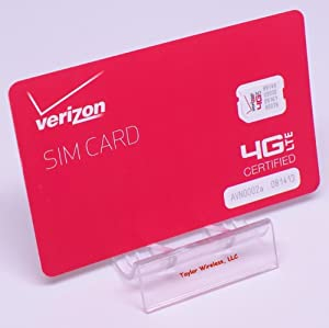 Verizon Nano SIM Card (4FF) Non-NFC for iPhone X, XR, XS, Max 8, 8 Plus, 7, 6, iPad Air with TrendON SIM Ejection Tool